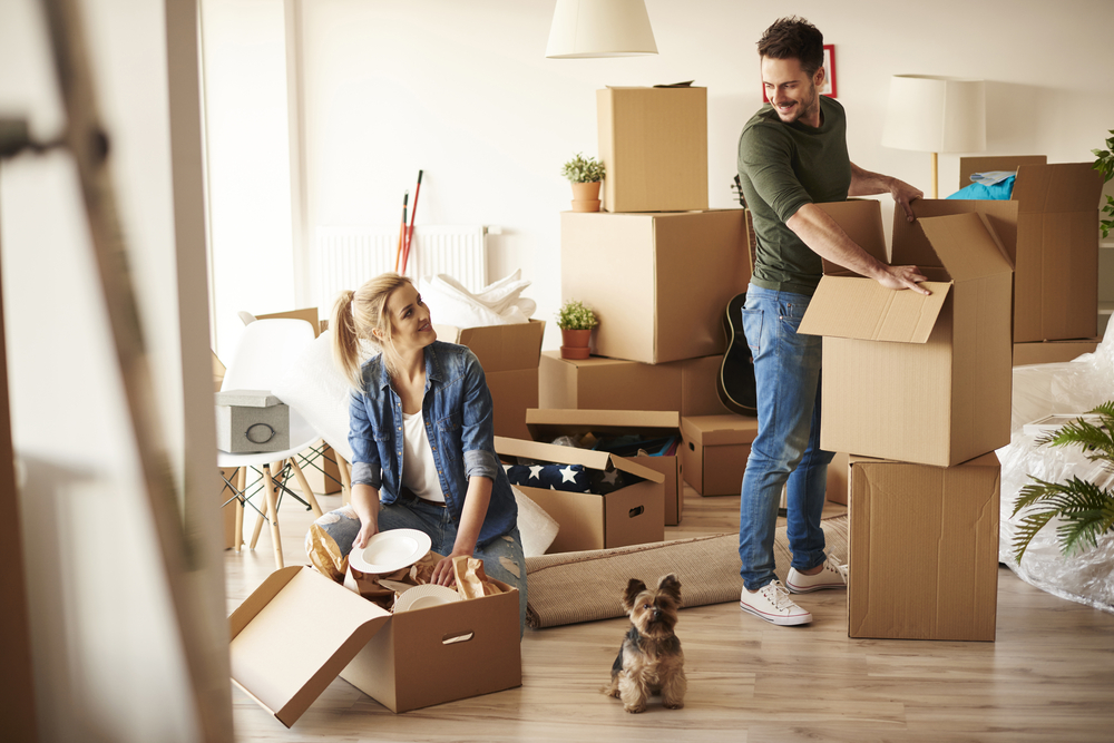 couple moving into a new house together